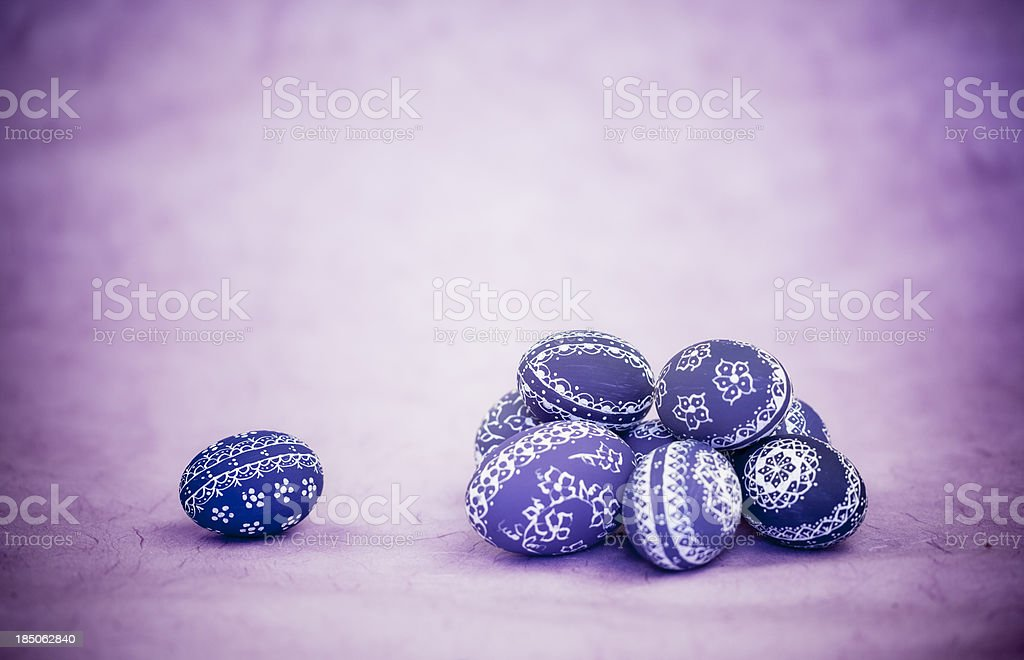 Pile of Easter Eggs stock photo