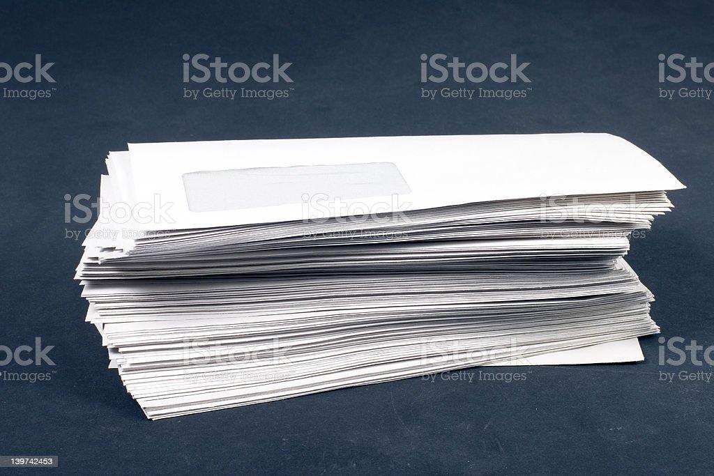 pile of envelopes royalty-free stock photo