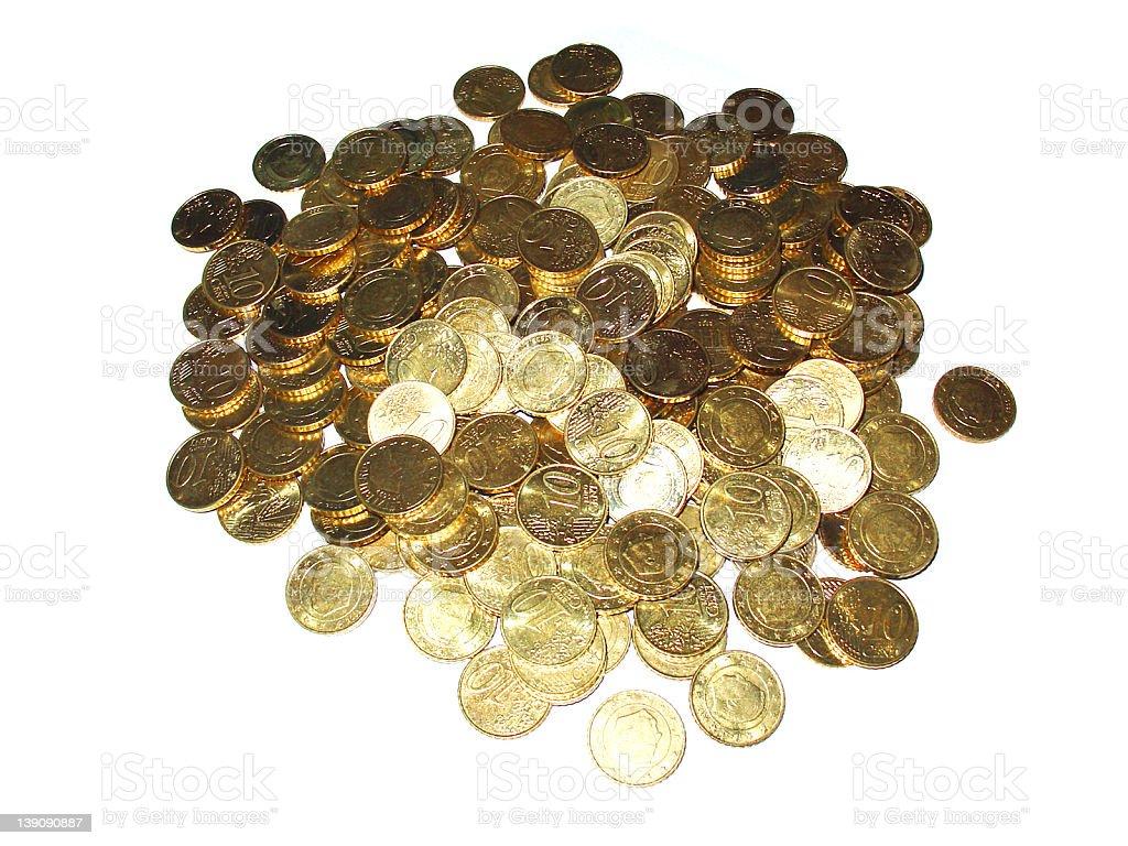 Pile of Euro Coins stock photo