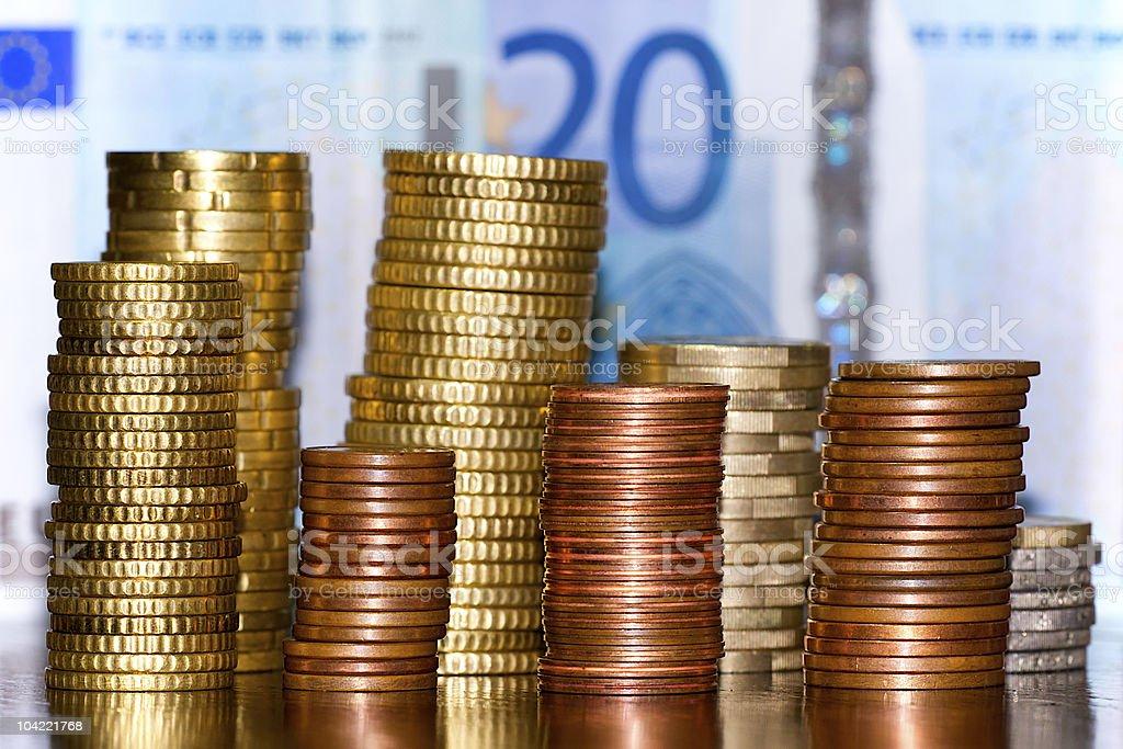 Pile of euro stock photo