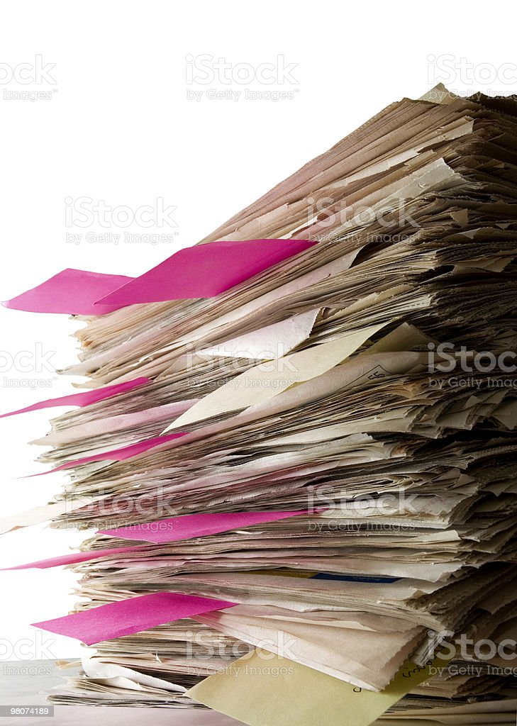 Pile of Files royalty-free stock photo