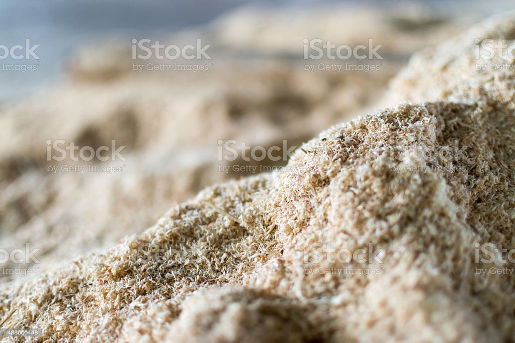 Pile of Fine Sawdust stock photo