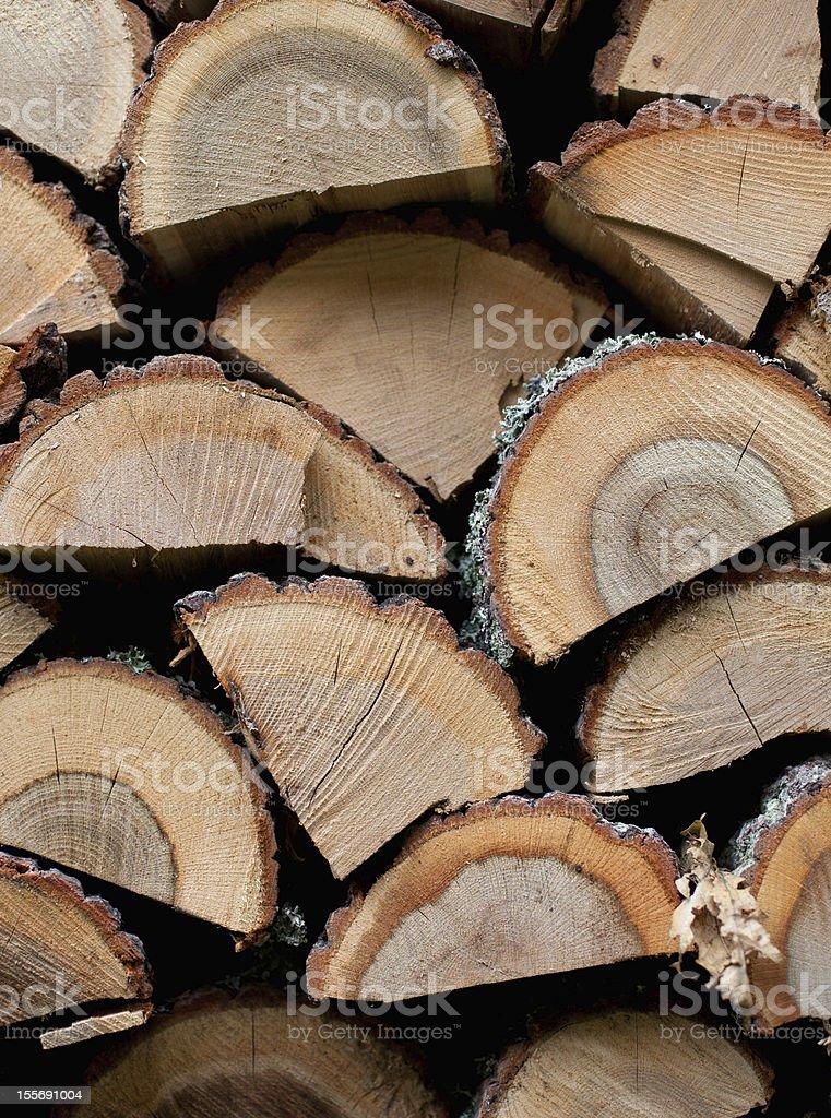 Pila de leña de fondo foto de stock libre de derechos