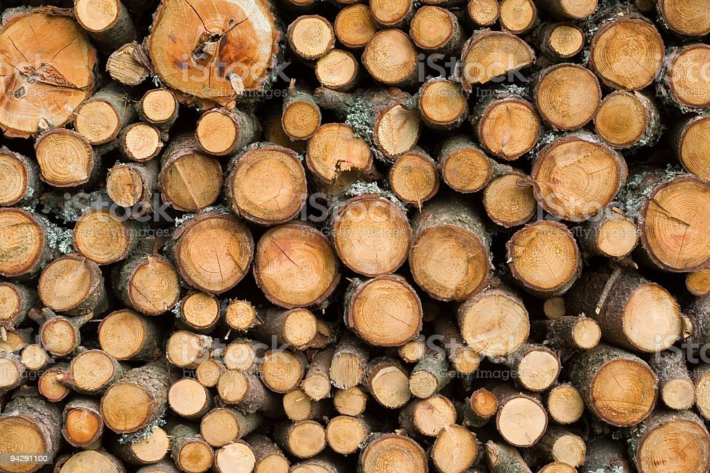 pile of fire-wood to warm up winter royalty-free stock photo