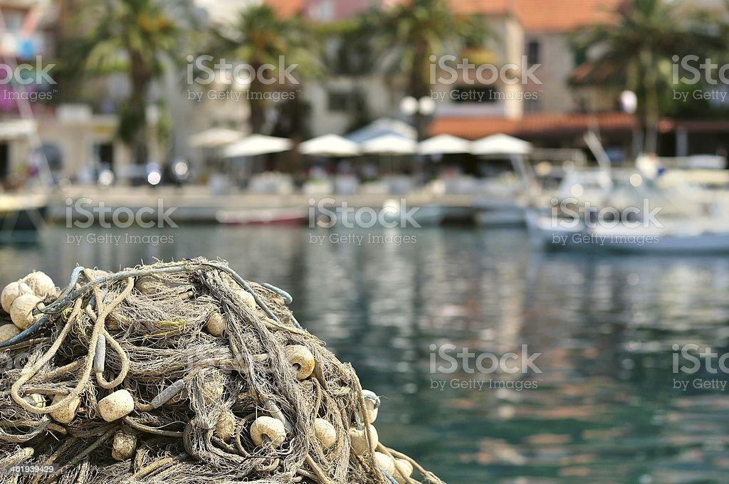 Sterty rybackich z rozmową na quay zbiór zdjęć royalty-free