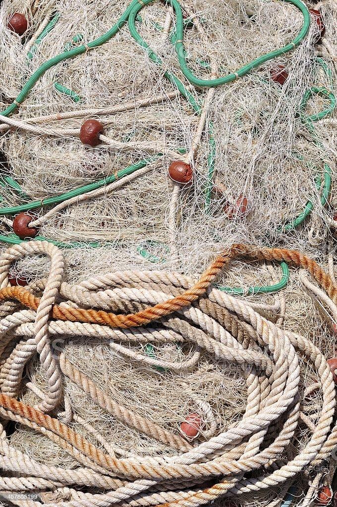 Sterty sieci rybackich z partii drobnych pieniędzy do wydawania reszty zbiór zdjęć royalty-free