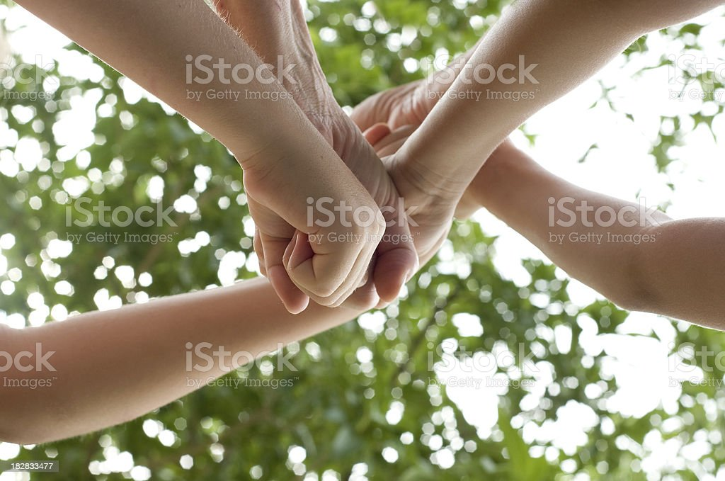 Pile of Fists stock photo