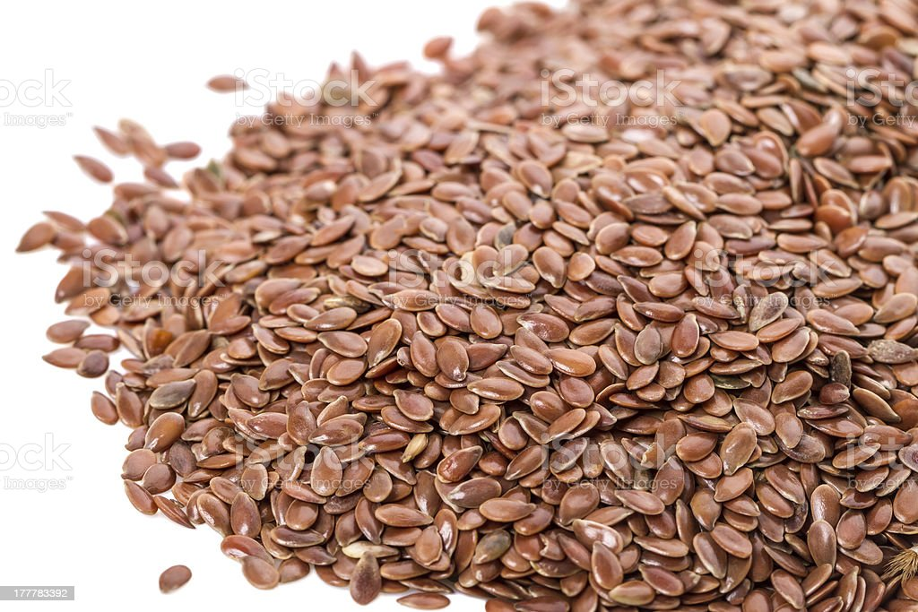 Pile of flax seed royalty-free stock photo