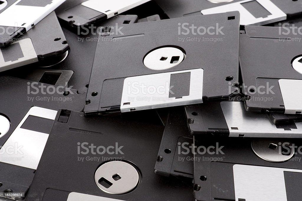 PIle of Floppy Disks stock photo