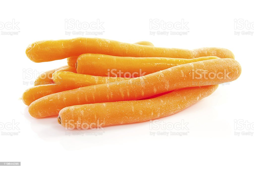 pile of fresh carrots stock photo