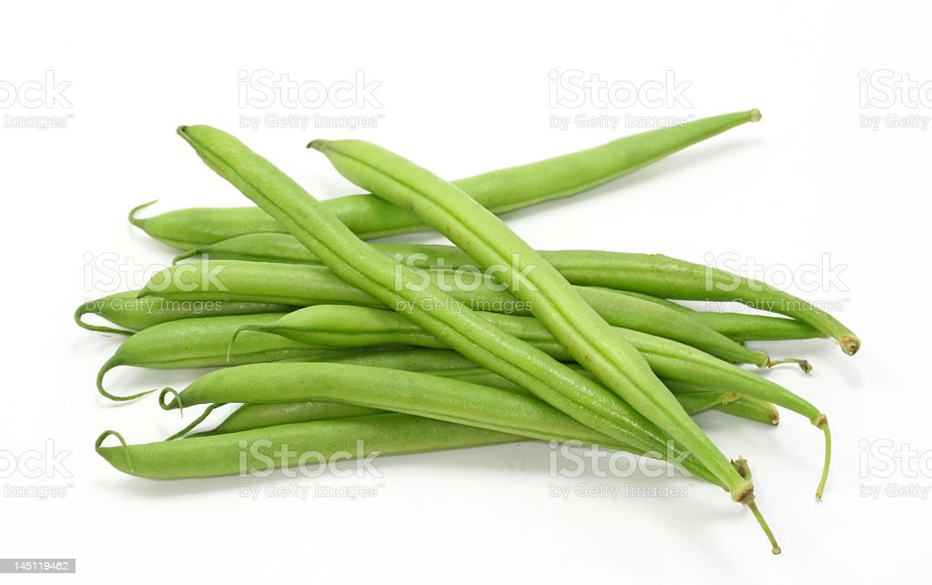 Pile of freshly picked green beans royalty-free stock photo