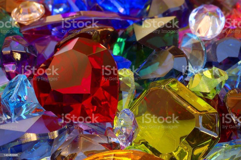 Pile of gems stock photo