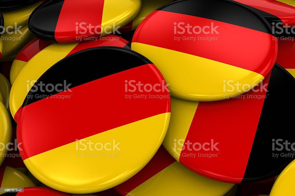 Pile of German Flag Badges stock photo