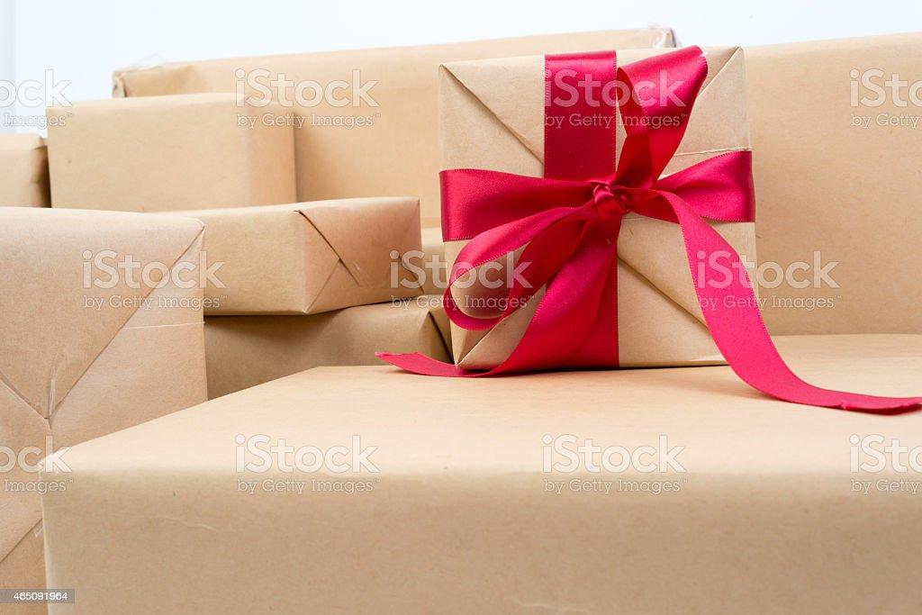 Sterty pudełko na prezent zbiór zdjęć royalty-free