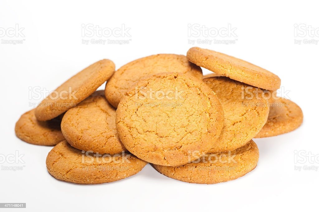 Pile of Gingernuts royalty-free stock photo