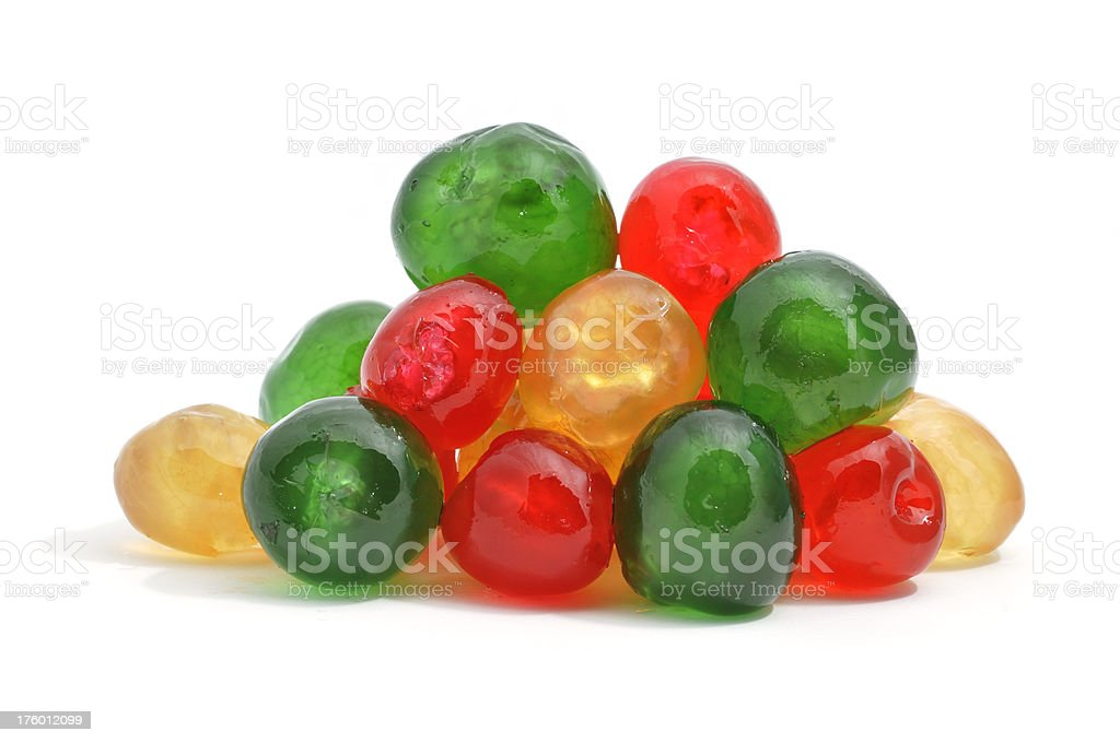 Pile of glaced cherries stock photo