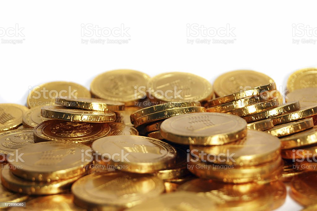 Pile of Gold Coins, Money royalty-free stock photo