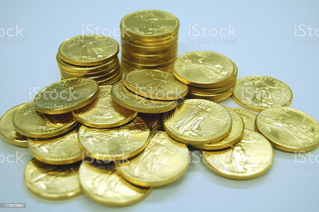 Pile of Gold royalty-free stock photo