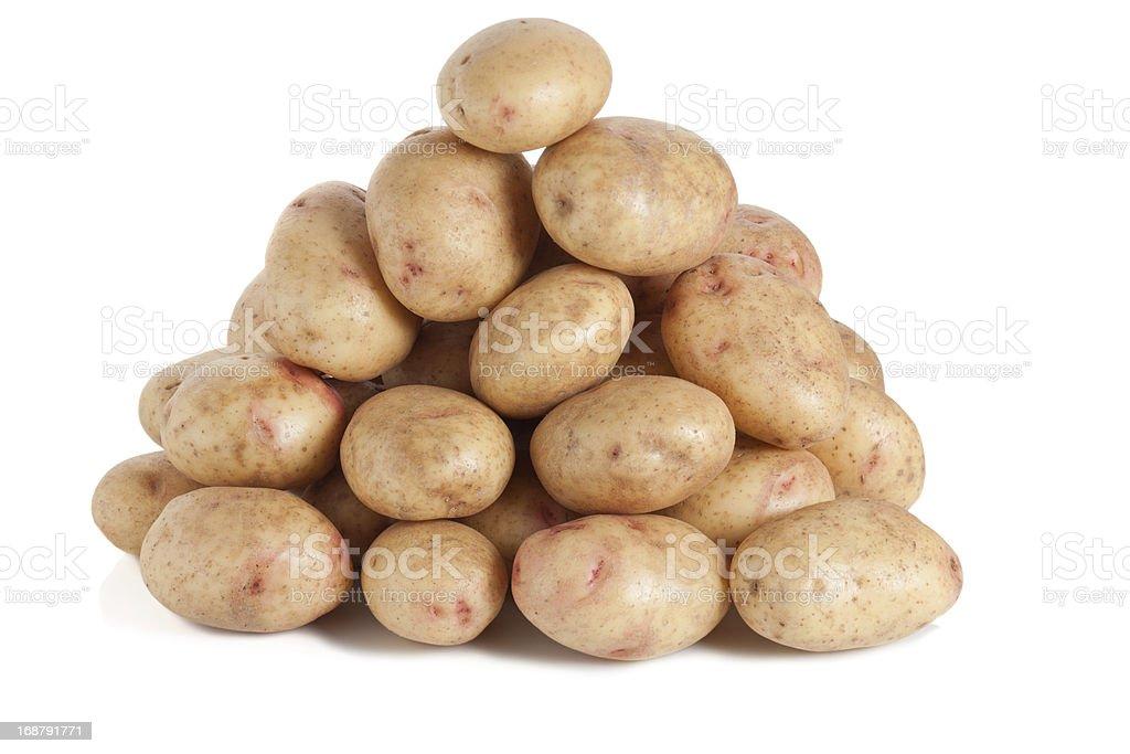 Pile of good quality Irish potatoes royalty-free stock photo