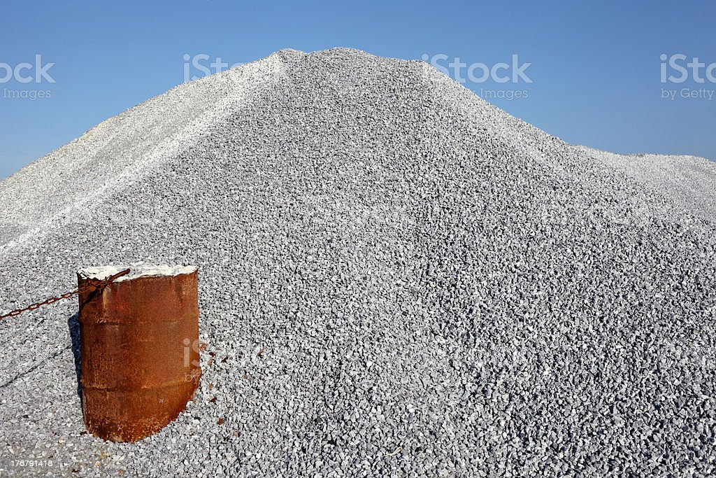 Pile of gravel royalty-free stock photo