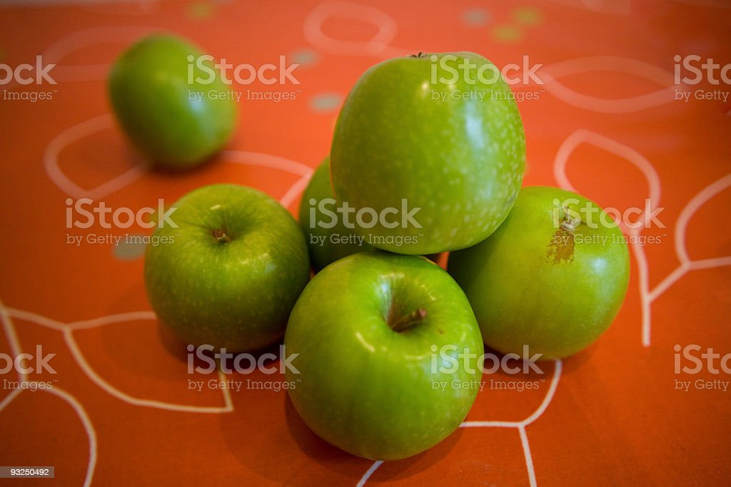 Pile of green apples stock photo