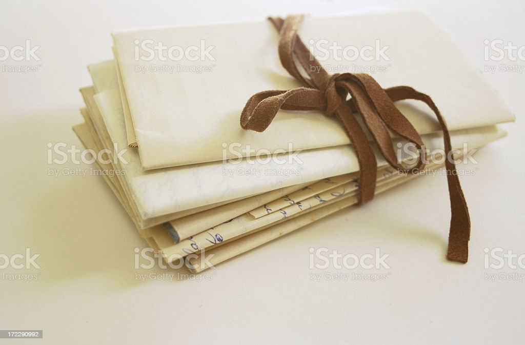 pile of hand written letters royalty-free stock photo