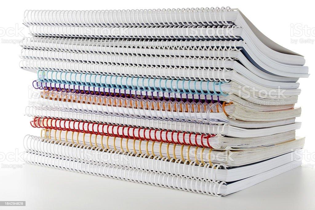 Pile of handouts stock photo