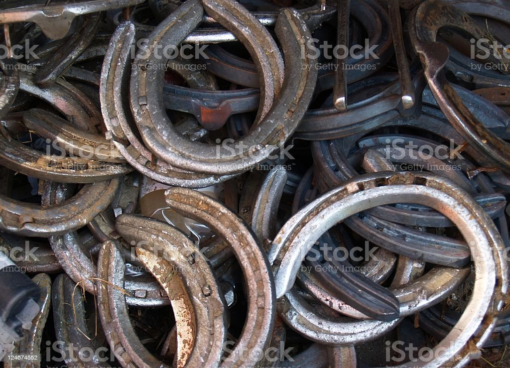 Pile of Horse Shoes royalty-free stock photo