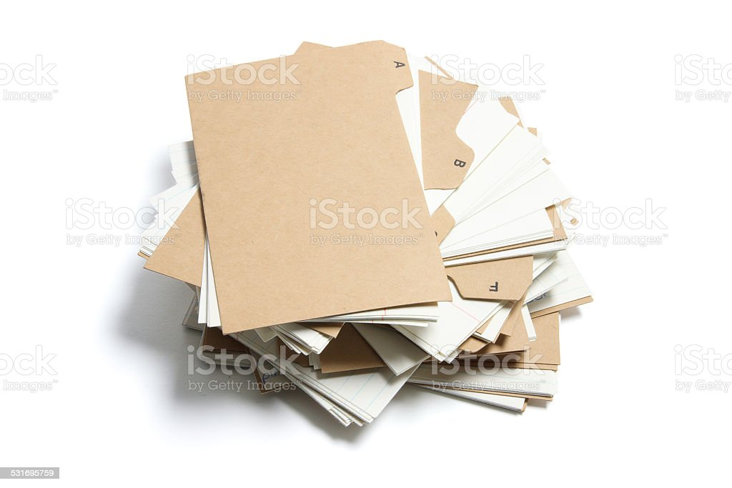 Pile of Index Files stock photo