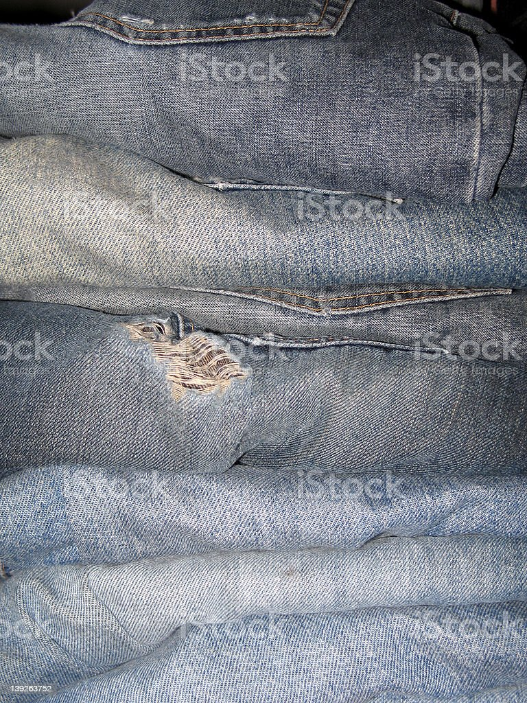 pile of jeans royalty-free stock photo