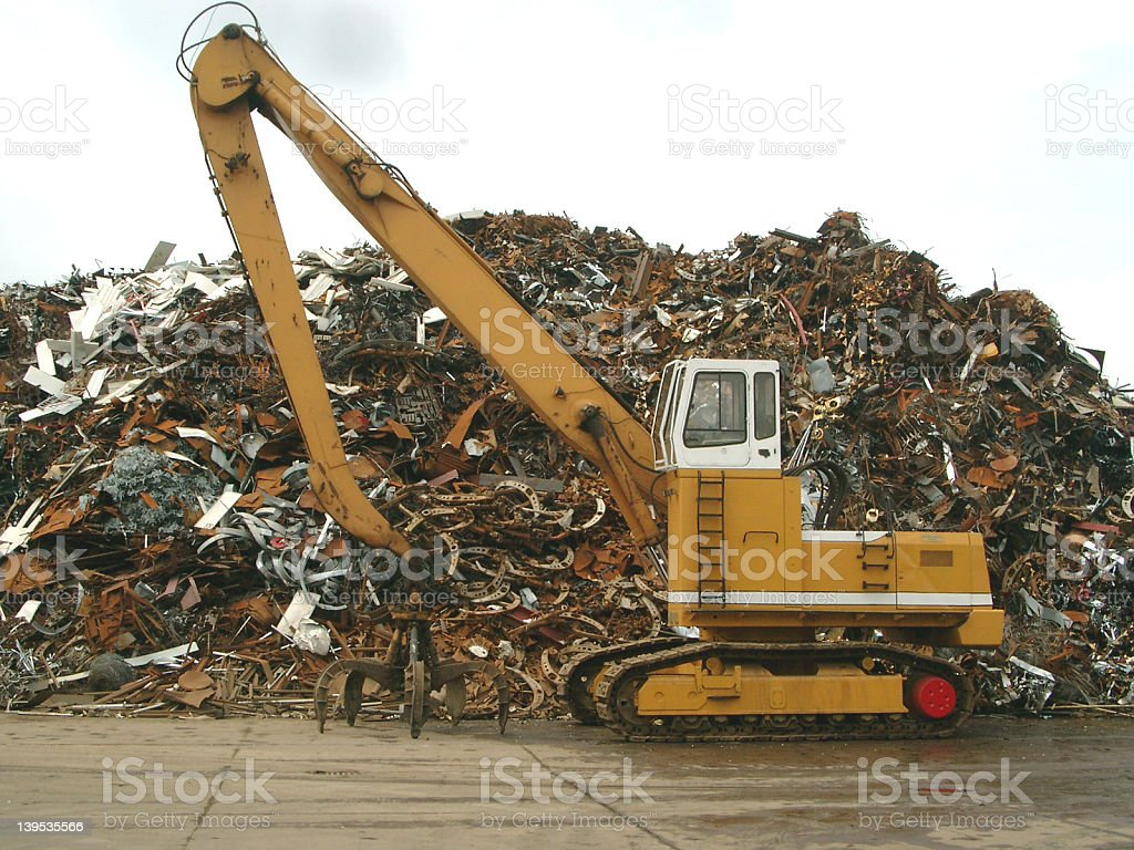 Pile of junk royalty-free stock photo