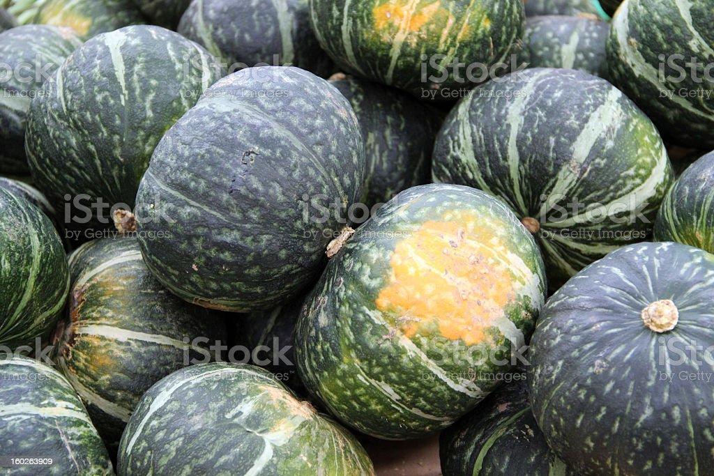 Pile of Kabocha Squash Close-up stock photo