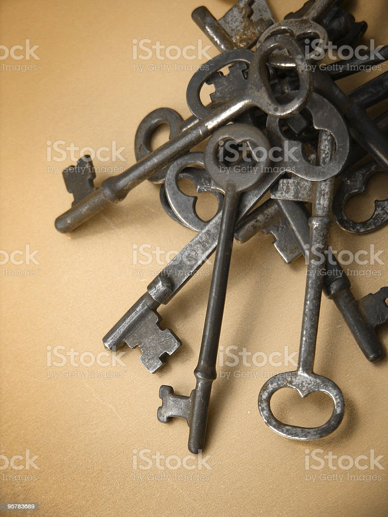 Pile of Keys royalty-free stock photo