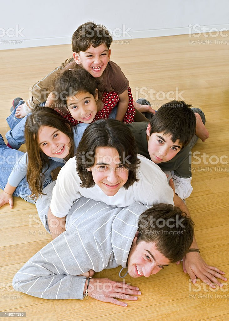 pile of kids stock photo