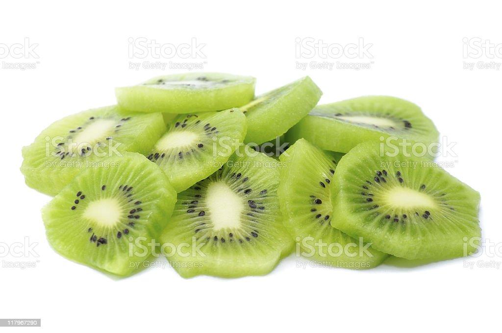Pile of Kiwi Slices stock photo