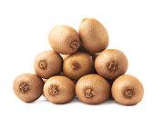 Pile of kiwifruits isolated