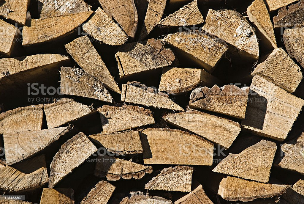 Pile of log wood royalty-free stock photo