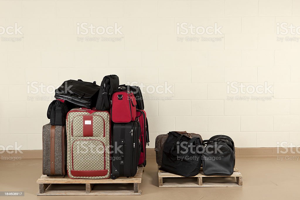 Pile of Lost Luggage royalty-free stock photo