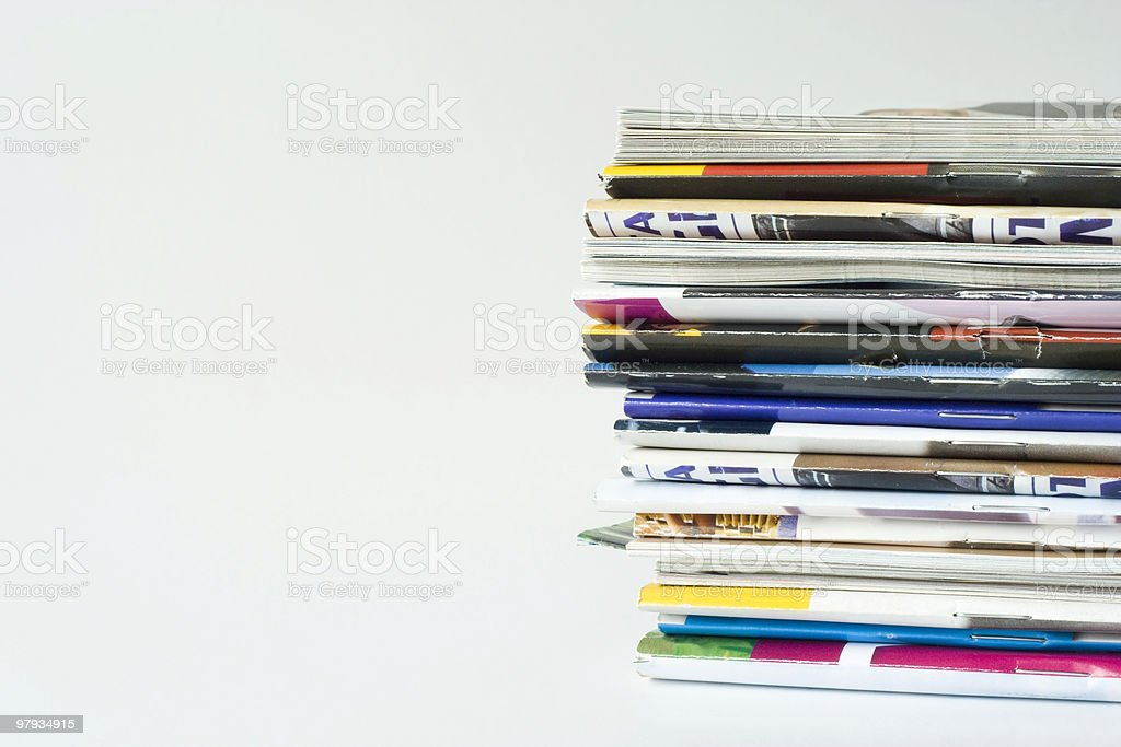 Pile of magazines royalty-free stock photo