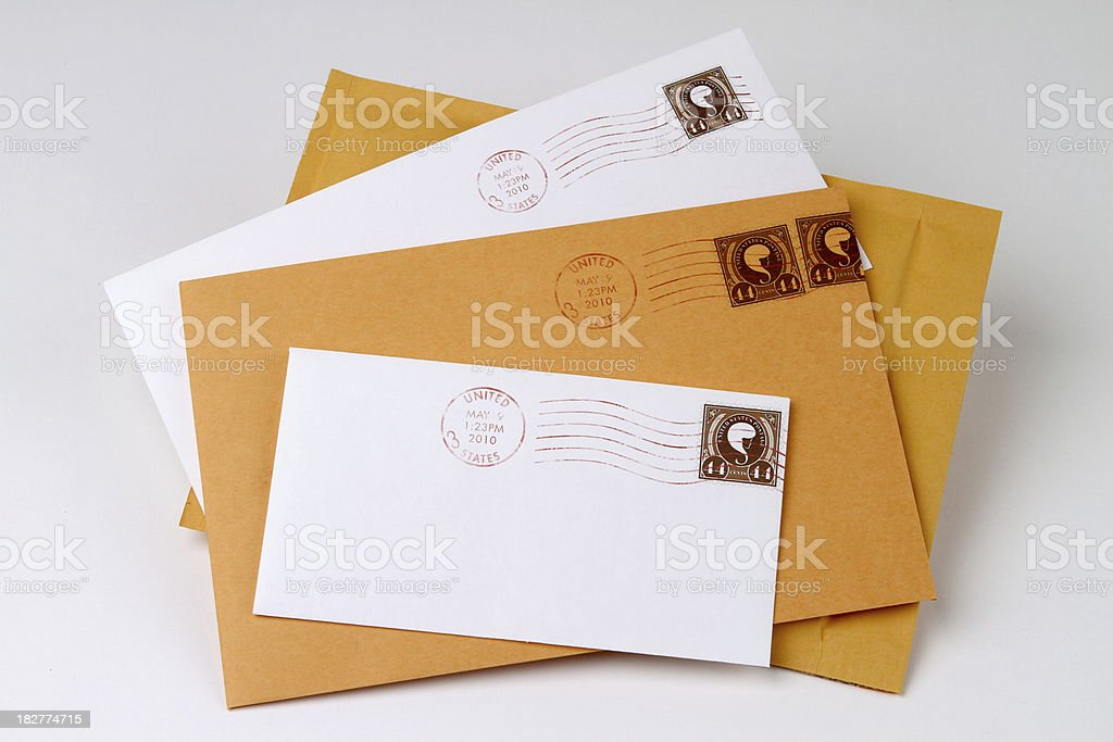 Pile of Mail stock photo