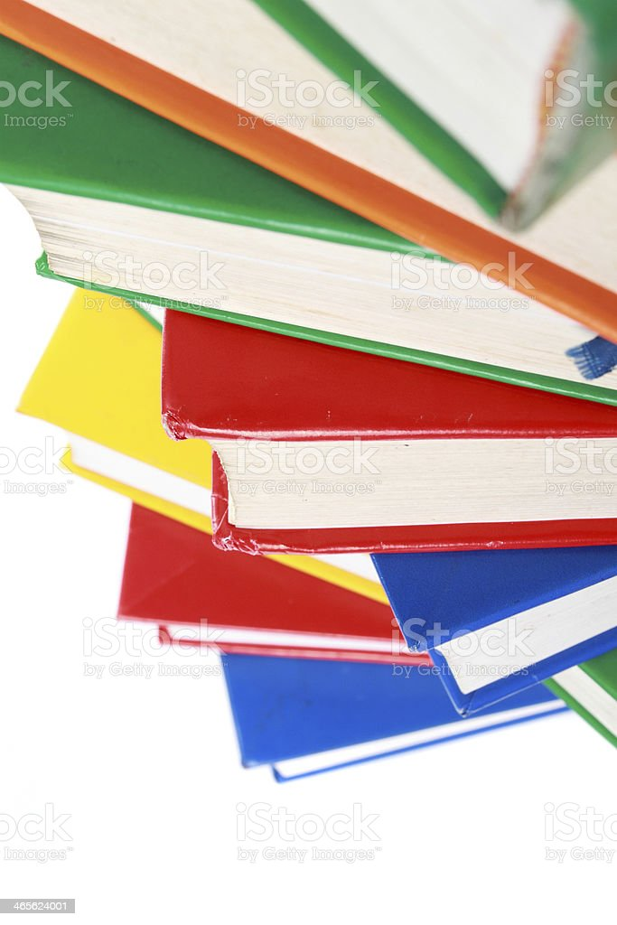 Pile of many colorful books royalty-free stock photo
