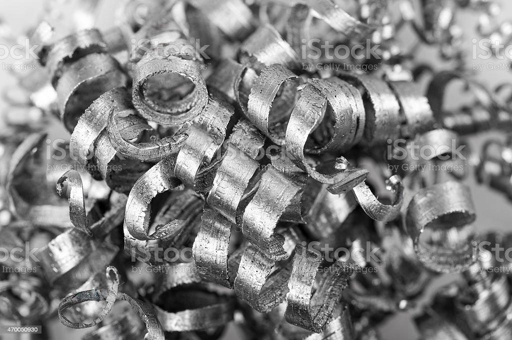 Pile of Metal Shavings stock photo