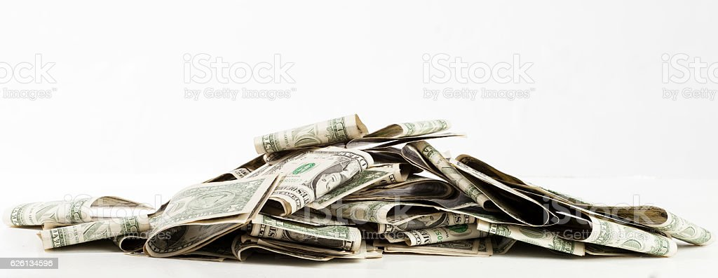 pile of money stock photo