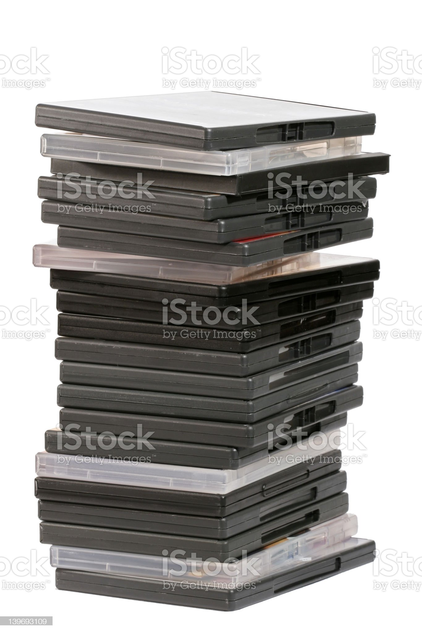 Pile of Movies royalty-free stock photo
