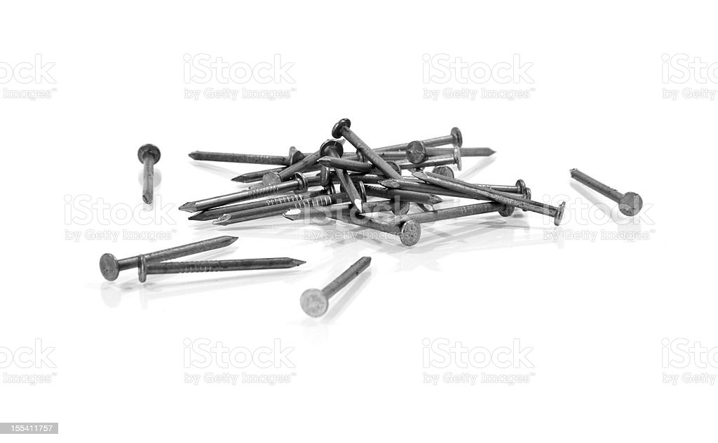 Pile of nails royalty-free stock photo