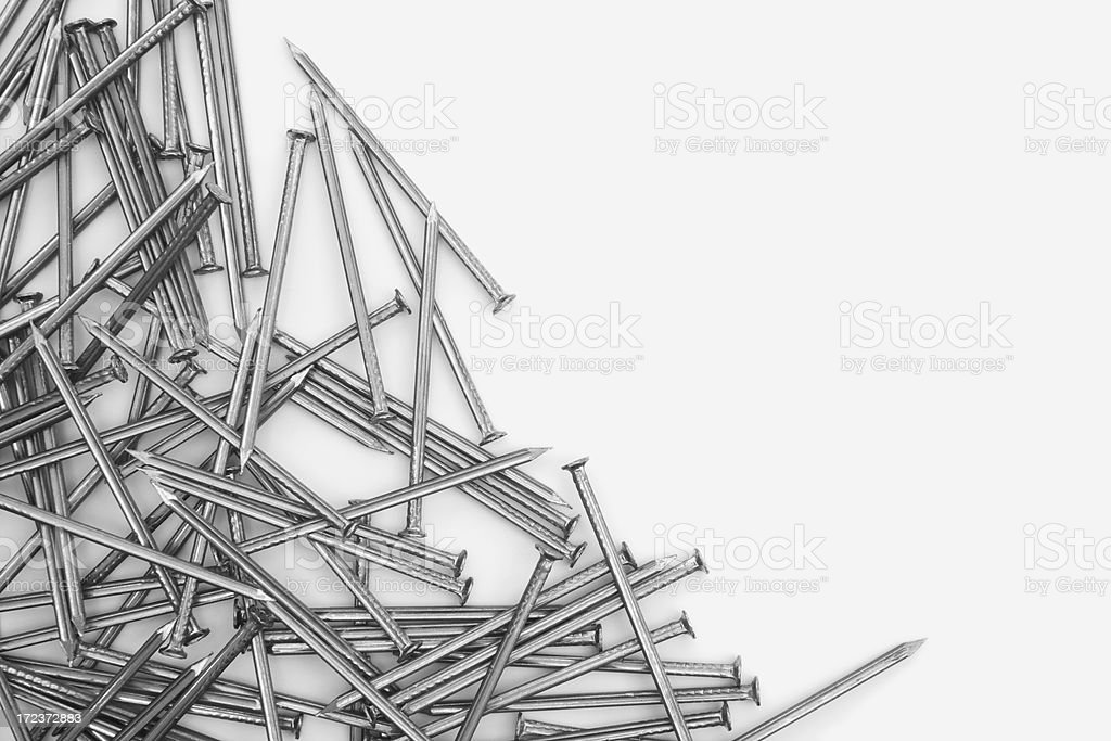 Pile of nails. royalty-free stock photo