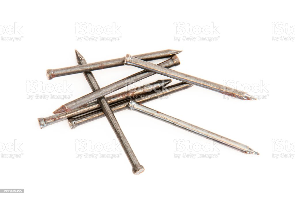 Pile of nails stock photo