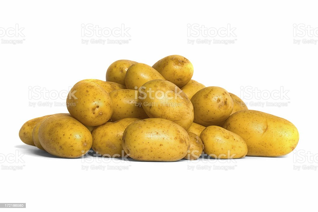 Pile of New Potatoes - Charlotte stock photo