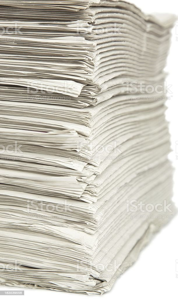 Pile of News Papers... royalty-free stock photo