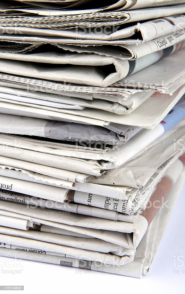 pile of newspaper royalty-free stock photo